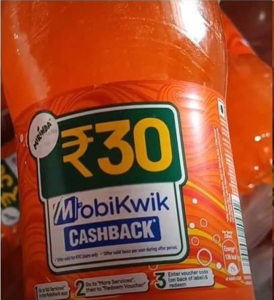 Mobikwik Mirinda Cashback Offer